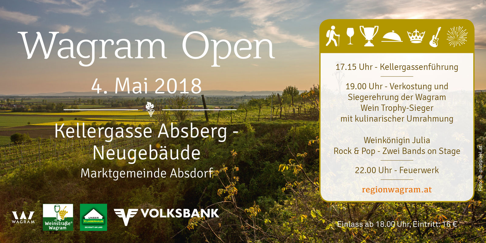 Frühlingserwachen Wagram 2018 | Wagram Open 4. Mai 2018 | Kellergasse Absberg
